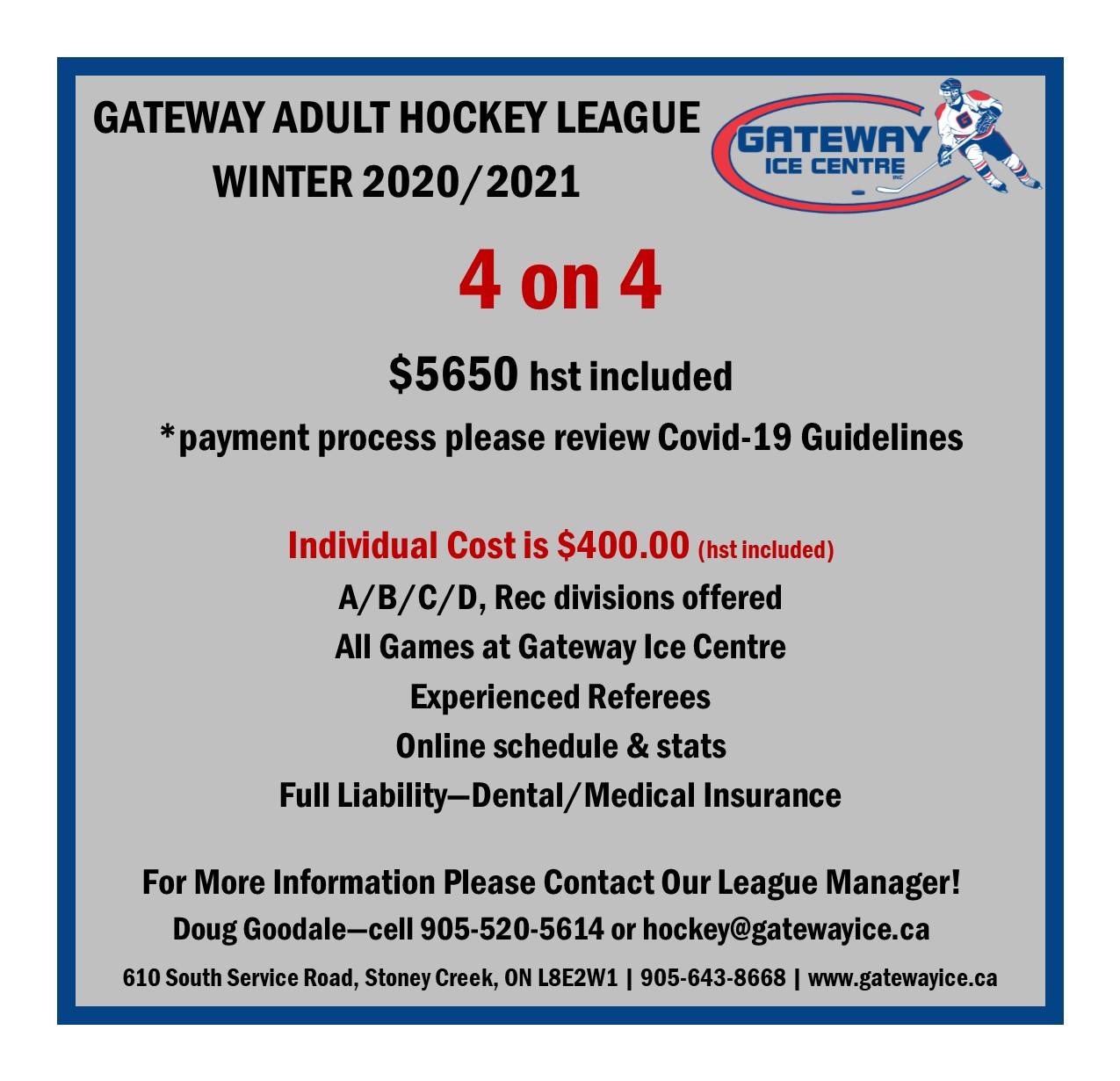 Hockey League Flyer - Winter 2020-21